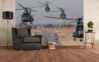 Фотообои Вертолеты на посадке