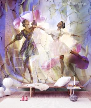 Фотообои Балерины в цветах