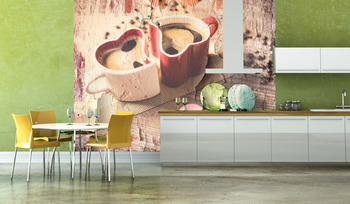Фотообои Любовное кофе