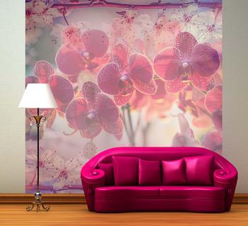 Фотообои Цветущие орхидеи