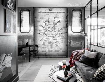 Фотообои Схема метрополитена