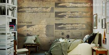 Фотообои Схема самолета
